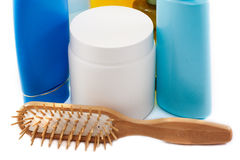 Pettine per capelli ed i prodotti per i capelli Immagini Stock Libere da Diritti