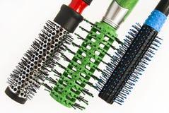 Pettine rotondo per capelli di designazione e d'arricciatura Fotografia Stock