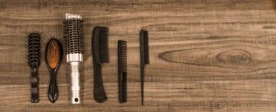 Pettini e spazzole Immagine Stock