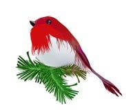 Pettirosso dell'uccello di Natale Immagine Stock Libera da Diritti