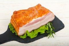Petto affumicato della carne di maiale fotografie stock