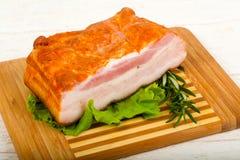 Petto affumicato della carne di maiale fotografie stock libere da diritti
