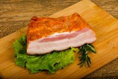 Petto affumicato della carne di maiale immagine stock