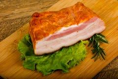 Petto affumicato della carne di maiale fotografia stock libera da diritti