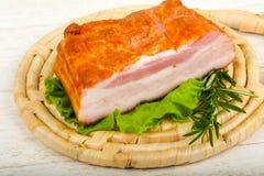 Petto affumicato della carne di maiale immagini stock libere da diritti