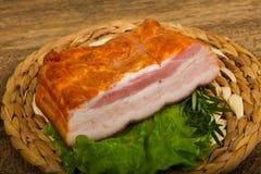 Petto affumicato della carne di maiale fotografia stock