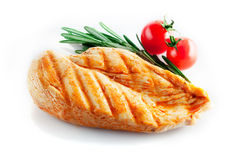 Petto di pollo arrostito Fotografie Stock