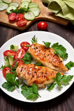 Petto di pollo arrostito Fotografia Stock
