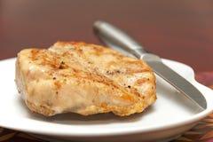 Petto di pollo cotto Immagine Stock