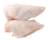 Petto di pollo crudo Fotografia Stock