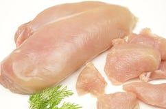 Petto di pollo crudo di Choped fotografia stock