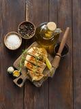 Petto di pollo in marinata fotografie stock libere da diritti