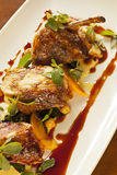Petto di pollo marocchino gastronomico di stile Fotografie Stock