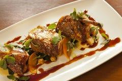 Petto di pollo marocchino gastronomico di stile Immagine Stock