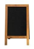 Pettorale pubblicitario di legno della lavagna Fotografia Stock