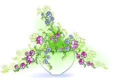 Petunia i kruka Arkivbild