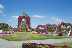 Petunias in the Miracle Garden Stock Images