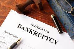 Petycja dla bankructwa Fotografia Royalty Free