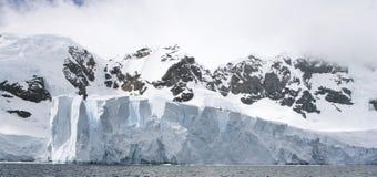 The Petzval Glacier. Panoramic view of the Petzval Glacier in Paradise Bay, Antarctica Stock Photo