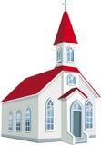 Peu d'église chrétienne du comté illustration libre de droits