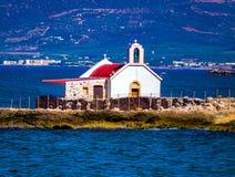 Peu d'église dans Hersonissos, Crète Photo libre de droits