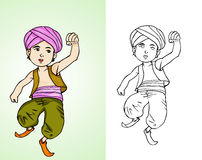Peu d'Aladdin - enfant Arabe illustration libre de droits