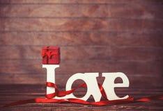 Peu d'amour de cadeau et de mot Images libres de droits