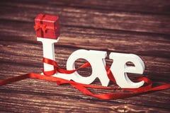 Peu d'amour de cadeau et de mot Image stock