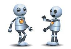 Peu d'arrêt de robot l'autre robot illustration libre de droits