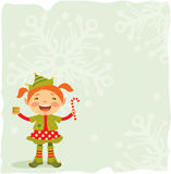Peu d'elfe de Noël Images libres de droits