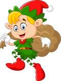 Peu d'enfant avec le costume de gnome Image libre de droits