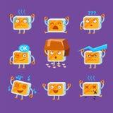 Peu d'ensemble d'Emoji de robot Photo stock