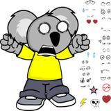 Peu d'expressions de koala d'enfant réglées Photo libre de droits