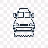 Peu d'icône de vecteur de chasse-neige d'isolement sur le fond transparent, illustration libre de droits