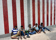 Peu d'Inde, une destination de touristes iconique à Singapour photographie stock libre de droits