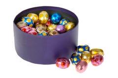 Peu d'oeufs de chocolat photo stock