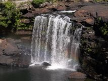 Peu de canyon de rivière, automnes de l'Alabama Desoto Image libre de droits