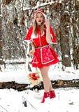 Peu de capuchon rouge Photographie stock libre de droits