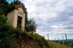 Peu de chapelle dans les vignobles Images libres de droits