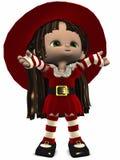 Peu de chiffre d'Elfe-Toon de Noël Photos libres de droits