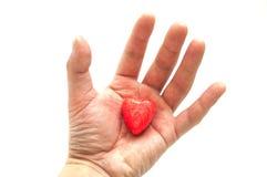 Peu de coeur rouge Photographie stock libre de droits