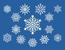 Peu de conceptions de flocon de neige Illustration Libre de Droits