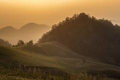 Peu de coucher du soleil Thaïlande de maison Photo stock