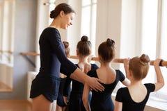peu de danseurs de ballet photo stock
