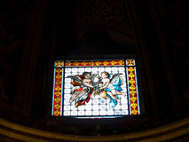 Peu de fenêtre dans l'église du ¹ de Gesà est localisée dans le ¹ de Piazza del Gesà à Rome Photo libre de droits
