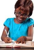 Peu de fille africaine d'école Images libres de droits