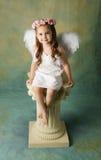 Peu de fille d'ange Photos stock