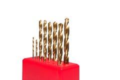 Peu de foret d'or de torsion Photo libre de droits