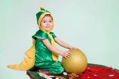 Peu de garçon de dragon Photo libre de droits