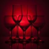 Peu de glaces de vin vides Photo stock